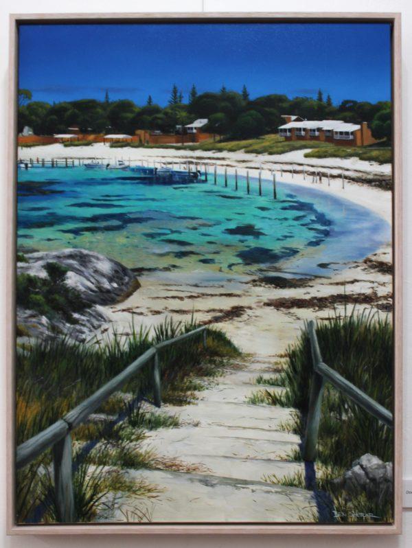 Original oil painting by Ben Sherar of Thomson Bay Rottnest Island Perth WA
