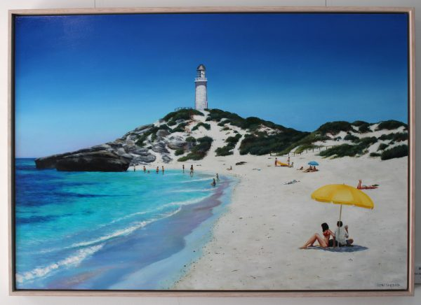 Pinkys Beach Rottnest Island original oil painting by Ben Sherar