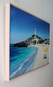 Pinkys Beach Rottnest Island original oil painting by Ben Sherar