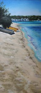 An original oil painting of the North Fremantle shore of the Swan River
