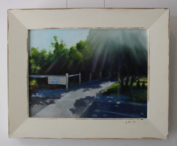 An original painting depicting the pathway to South Fremantle Dog Beach