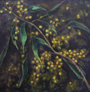 An original botanical painting by Western Australian artist Kiya Kalem