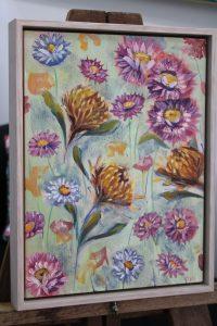 An original botanical artwork by Western Australian Artist Kiya Kalem