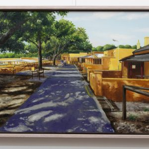 An original oil painting by Western Australian Artist Ben Sherar depicting the iconic cottages on Rottnest Island