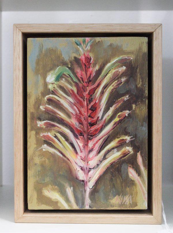 An original small painting on timber panel by Western Australian Artist Kiya Kalem